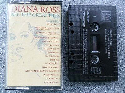 Diana Ross - All The Great Hits -  Album - Cassette Tape
