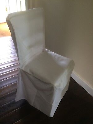 65 Ivory/cream Loose Fitting Wedding Chair Covers Excellent Condition