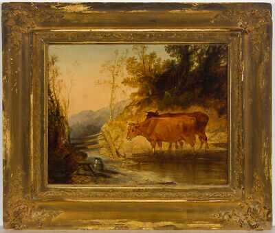 Style of Henry Earp (1831-1914) - Fine Early 20th Century Oil, Cattle by Stream