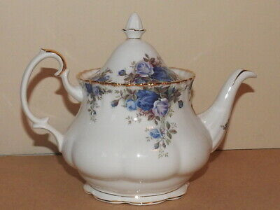 STUNNING Royal Albert Moonlight Rose Large Teapot - Excellent Condition - 2nd