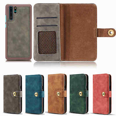 For HUAWEI P30 Pro Magnetic Flip Stand Card Leather Wallet Case Cover