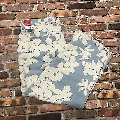 NEW Gloria Vanderbilt 16 Women's Plus Size Floral Stretch Silhouette Denim Jeans