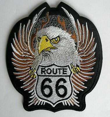 Aufnäher Patch American Highway ROUTE 66 USA Eagle Wings
