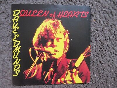 """DAVE EDMUNDS """"QUEEN OF HEARTS"""" b/w """"CREATURE FROM THE BLACK LAGOON"""" 1979 VG+/EX"""