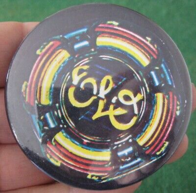 ELO ELECTRIC LIGHT ORCHESTRA genuine vintage 1970s fans 65mm pin BADGE