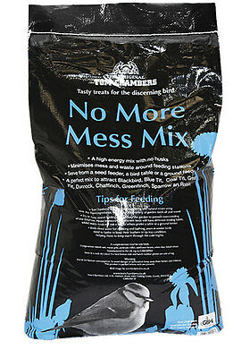 12.55kg Bag No More Mess MIx Bird Feed by Tom Chambers - Wild Bird Food - Seeds