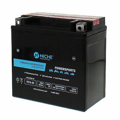 NICHE AGM Battery for YTX14-BS fits Honda Rancher 350, 400, 420