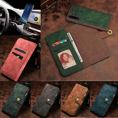 For HUAWEI Mate 20 Pro Magnetic Flip Stand Card Leather Wallet Case Cover