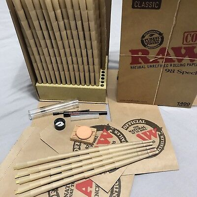 Raw 98 Special Cones ~ 50 Pack ~ Raw Perfect Cone Maker ~ Raw Terra Cotta Stone