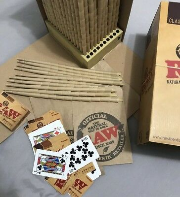 Raw Classic 98 Special Cones ~ 100 Pack ~ 1 Deck Of Raw Playing Cards