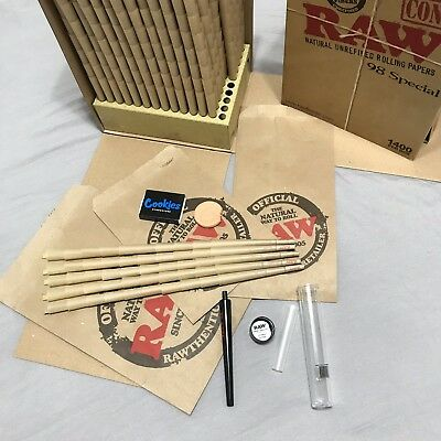 Raw 98 Special Cones ~ 50 Pack ~ Raw Perfect Cone Maker ~ Cookies Hydro Stone