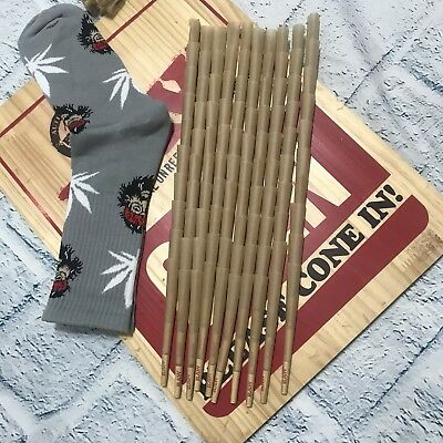 RAW Classic King Size Authentic Pre-Rolled Cones with Filter~100 Pack~FREE GIFT
