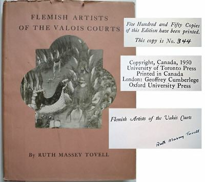 Rare 1950 Flemish Artists of the Valois Courts Signed Ltd Ed Ruth Massey Tovell