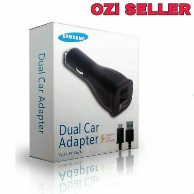 SAMSUNG GENUINE DUAL FAST CAR CHARGER MICRO USB CABLE S4 5 6 7 8 9 10 (Micro)