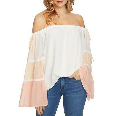 388a34894d0 1.STATE WOMENS IVORY Off-the-Shoulder Bell Sleeve Daytime Blouse Top ...