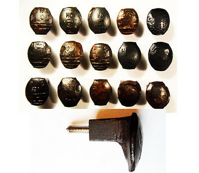 15 Easy Screw Railroad Spike Knobs Door Pull Cupboard Old Antique Vintage Rustic
