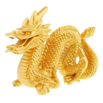 MagiDeal Chinese Dragon Statue Wealth Feng Shui Figurine Table Decoration