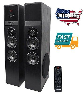 Home Audio Theater System Tower Speakers Sub Bluetooth USB Surround Sound Music