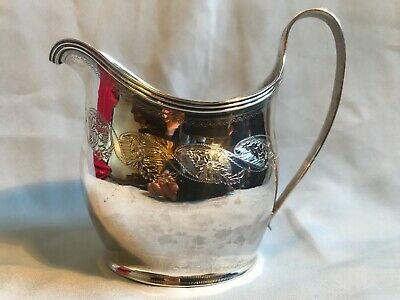 ANTIQUE ENGLISH STERLING CREAM JUG  LONDON 1808 George III