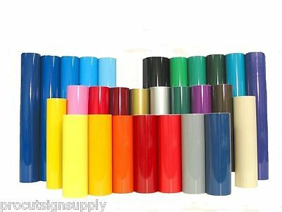 """12"""" x 36"""" Roll Permanent Adhesive Glossy Vinyl for Crafts, Decals, Signs Die Cut"""