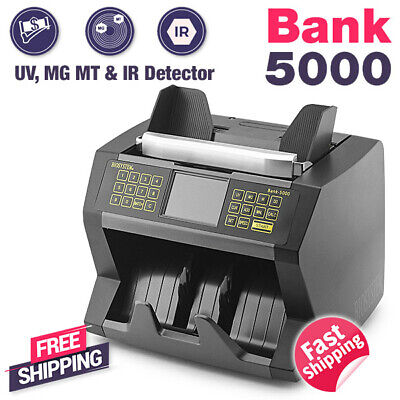 Biosystem Automatic Money Bill Notes Counter Counting Machine Voice Verification