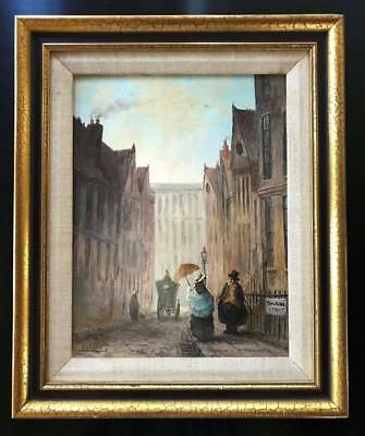 S CAVALL 20thc. English School DOWNING STREET Oil Painting ~  19thc. Satire
