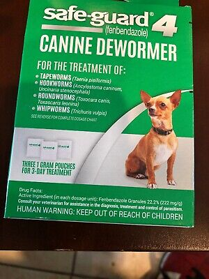 """8In1 Safe-Guard Canine Dewormer For Small Dogs, 3 Day Treatment """"FREE-SHIPPING"""""""