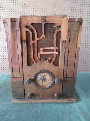 Antique 1936 Sears Silvertone Model 1900 Vacuum Tube World Band Tombstone Radio