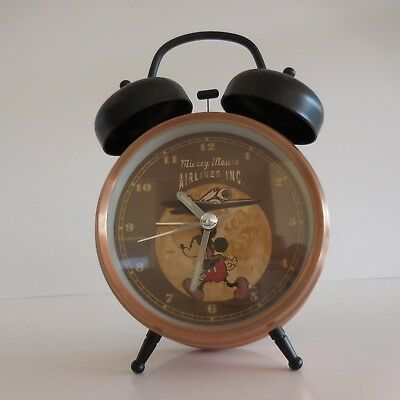 Alarm Clock Mickey Mouse Airlines Inc Vintage Disney