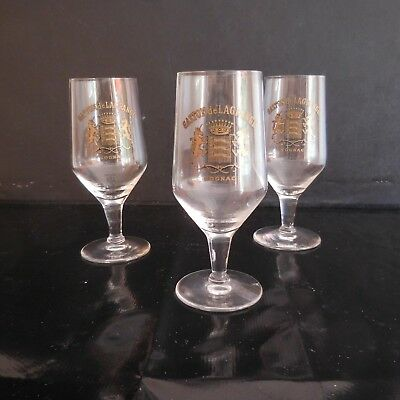 N2803 3 Glasses - Pied Cognac Gaston Lagrange Vintage New Art Deco Pn France