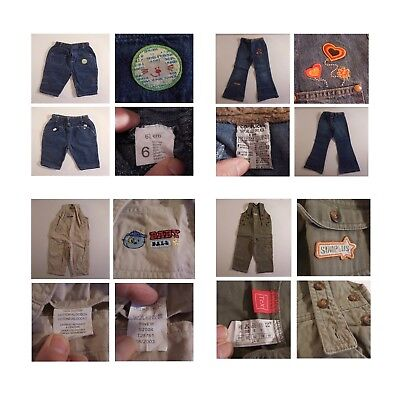 2 Salopettes 2 Trousers Girl Boy Child Jeans Baby Ball Tex Complices N3353