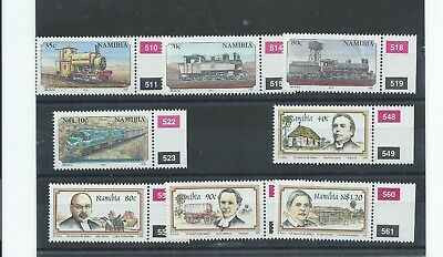 Namibia stamps.  1995 Centenary of Railways & Finnish Missionaries MNH (B745)
