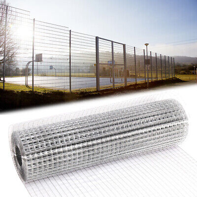 Welded Wire Mesh 15M 30M Garden Fence Aviary Pet Galvanised Metal Grid 25 * 25mm