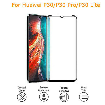 For Huawei P30/Pro/Lite 5D/9D Curved Tempered Glass Screen Protector-AW