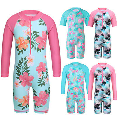 Girls UPF50+Sun Protective Swimming Costume Swimwear Delivery Time Within 7 Days