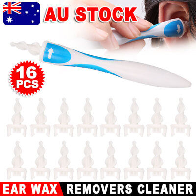 AU Soft Ear Wax Cleaner Removal Multi earwax Remover Spiral Safe Tip Tool YW