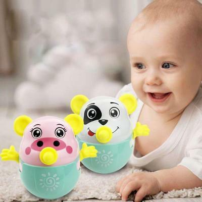 Nodding Moving Tumbler Doll Roly-poly Rattles Ring Bell Educational Kids Toys YU