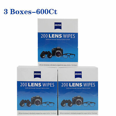 ZEISS Lens Cleaning 400 Wipes Eye Glasses Computer Optical Camera Lense Cleaner
