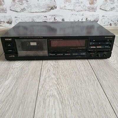 TEAC R-515 Stereo Cassette Deck Auto Reverse with Cobalt Amorphous Head TESTED
