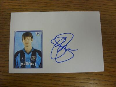 1997/1998 Autographed White Card: Coventry City - Breen, Gary  (Sticker laid dow