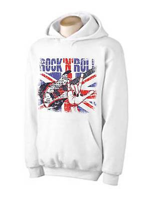 6c174170 ROCK N ROLL UNION JACK HOODIE - Britpop Paul Weller Oasis Noel Gallagher T- Shirt
