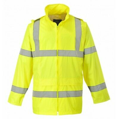 735 Yellow Hivis Rain Jacket Lrg H440YERL Portwest Genuine Top Quality Product