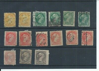 Canada stamps. Early Queen Victoria used lot. (E476)