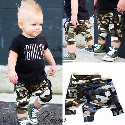 1-4Y Kid Baby Boy Clothes Camouflage Pant Cotton Bottoms Toddler Casual Trousers