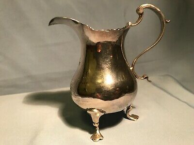 ANTIQUE ENGLISH STERLING CREAM JUG  LONDON 1777 George III