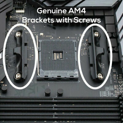 NEW Genuine AM4 AMD CPU Cooler Mounting Brackets with Screws