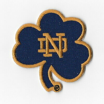 NCAA Notre Dame Fighting Irish Iron on Patches Embroidered Patch Blue Leafs