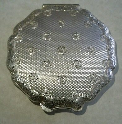 Antique, Vintage Sterling Silver Compact Powder Box -