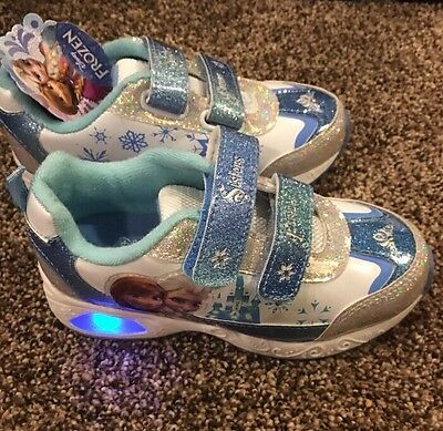 disney frozen girls shoes Size 11 Youth New Light Up
