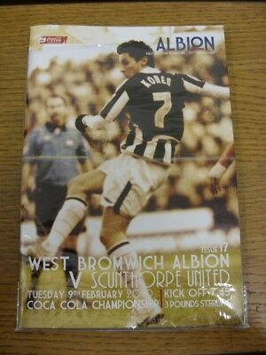 09/02/2010 West Bromwich Albion v Scunthorpe United  . Thank you for viewing thi